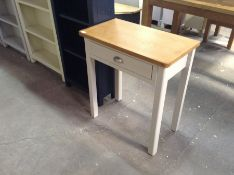 CHESTER PAINTED OAK DRESSING TABLE(DAMAGE)