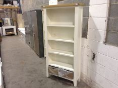 Suffolk White Painted Oak Large Bookcase (A51 -TT-LBC-W)(DAMAGED)