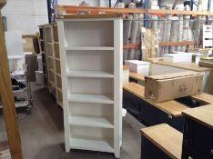 Hampshire White Painted Oak Large Bookcase(B/61 -KEL P27-82)
