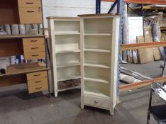 Chester White Painted Oak Tall Narrow Bookcase (A87 -NC-TNB-W)