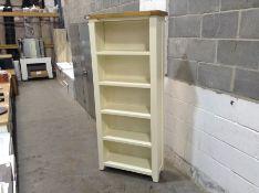 Hampshire Ivory Painted Oak Large Bookcase (A91 -KEL P27)(HEAVY DAMAGE)