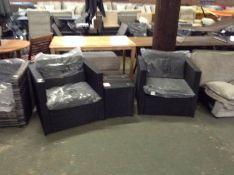 Dakota Fields,Alyce 2 Seater Rattan Conversation Set RRP -£489.99 (23577/3 -OSNN1652)
