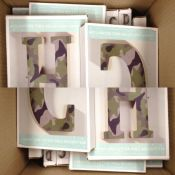 Assortment of Camoflauge Letter (Mixture of Letters ) 6END