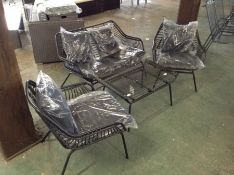4 Seater BISTRO Set with Cushions (23642/9GCQQ1942)