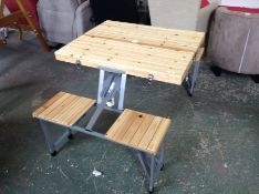 Dakota Fields,Kamile Folding Wooden Camping Table RRP -£115.99 (23584/14 -VDBA2219)