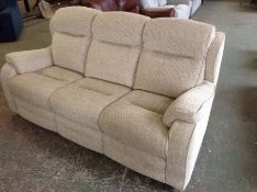 BISCUIT HIGH BACK 3 SEATER SOFA (TROO2237-WOO89638
