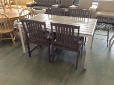 GARDEN TABLE AND 4 X CHAIRS(23410/10,23419/4,23409