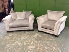 GREY SNUG CHAIR AND CHAIR (HH39-747124-HH39