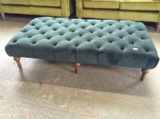 GREEN BUTTON BACK FOOTSTOOL (HH39-B-3953)