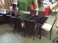 Dakota Fields,Route Table AND 6 CHAIRS RRP -£639.00 (23690/8FINT2847)
