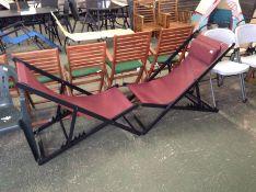 Dakota Fields,Zeitz Reclining/Folding Deck Chair RRP -£104.99 (23655/10OSNN1816)(MISSING ONE HEAD