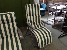 Dakota Fields,Underwood Reclining Sun Lounger with Cushion RRP -£144.99 (23584/15 -OSNN1049)(RIP
