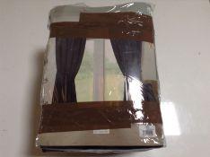 "17 Stories, Arkady Navy 3"" Tape Readymade Curtain (229X229CM)(X2 PACKS) - RRP £187.99 (SDDU1244 -"