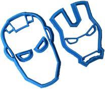 Cuticuter Iron Man Fondant Cutter, Blue, 8x7x1.5 c