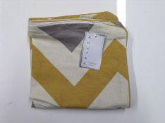 GILLESPIE COTTON CUSHION COVER 43X43CM (OCHRE MUSTARD) RRP - £8 (HAZN1955 - ) 1D