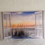 House of Hampton, Canvas, Window To The Beach RRP - £59.99 ( - 21521/22) 2G