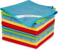 SEVENMAX Microfibre Cleaning Cloths, Multifunctional Cleaning Towels 10 Pack Rags with Label for