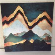 Fairmont Park Velvet Copper Mountains by SpaceFrog Designs - Wrapped Canvas Graphic Art Print -
