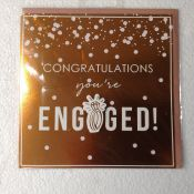 5X ROSE GOLD CONGRATULATIONS YOUR ENGAGED CARDS