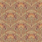 East Uraban Home , Flora Nouveau 10.05m x 53cm Wallpaper Roll (RUSSET) - RRP £15.99 (CWVW1006 -