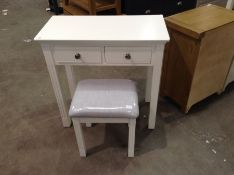 BANBURY WHITE PAINTED DRESSING TABLE AND STOOL (DA