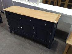 Bergen Blue Painted Oak 3 Door 2 Drawer Large Sideboard(C/78 -NTP-3DS-BL)