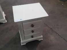 Banbury White Painted Large Bedside Table(C/10 -BP-LBSC-W)(SCRATCHED)
