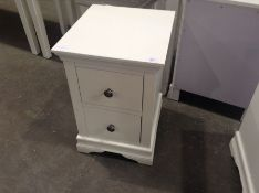 Florence White Painted Bedside Cabinet(C/45 -SW-BSC-W)