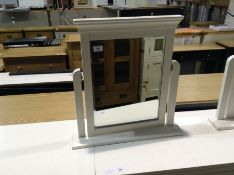 Florence White Painted Dressing Table Mirror(C/100 -SW-TM-W)