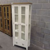 Hampshire White Painted Oak Display Cabinet(C/56 -KEL P37-82)