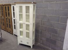 Chester White Painted Oak Display Cabinet(C/66 -NC-DIS-W)