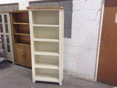 Hampshire Ivory Painted Oak Large Bookcase(C/53 -KEL P27)(DAMAGED)
