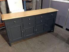 Bergen Blue Painted Oak 4 Door 6 Drawer Extra Large Sideboard(DAMAGED)(C/97 -NTP-4DS-BL)