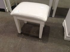 Florence White Painted Dressing Stool(C/50 -SW-ST-W)