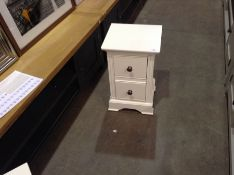 Banbury White Painted Small Bedside Table(B/92 -BP