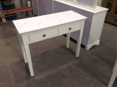 Florence White Painted Dressing Table(C/20 -SW-DT-W)(fdamaged)
