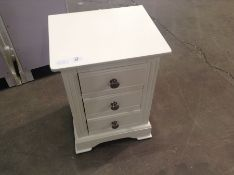 Banbury White Painted Large Bedside Table(C/34 -BP-LBSC-W)(DAMAGED)