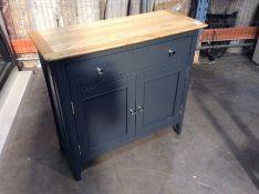 Bergen Blue Painted Oak 2 Door 1 Drawer Mini Sideboard(C/102 -NTP-SMS-BL)