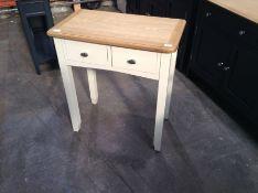 Gloucester White Painted Oak Dressing Table(C/14 -GA-DT-W)(DAMAGED)