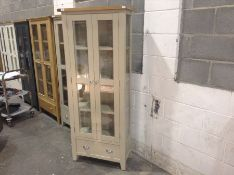 Chester Grey Painted Oak Display Cabinet(C/82 -NC-DIS-PT)(MARKED LOOSE BACK)
