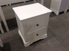 Florence White Painted Large Bedside Cabinet(C/104 -SW-LBSC-W)