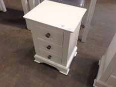 Banbury White Painted Large Bedside Table(C/88 -BP-LBSC-W)