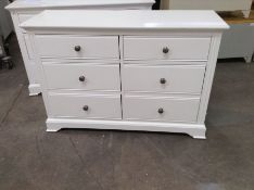 Banbury White Painted 6 Drawer Chest (A146 -BP-6DC