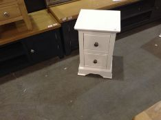 Banbury White Painted Small Bedside Table(B/91 -BP