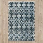 Bloomsbury Market,Blaney Hand-Tufted/Hand-Hooked Navy Area Rug (200cm x 300)(17315/46 -SFVH4252)