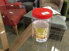 Sunpet J1500 Large Red Top Plastic Food Storage Ca