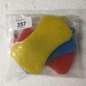 N\A 4Pcs Silicone Dish Sponge Antibacterial Multicolor Kitchen Silicone Sponge Multipurpose Dish