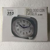 Trevi Retro Bedside/Travel Alarm Clock with LED Backlight and Silent Sweep Second Hand, Grey, 10x3.