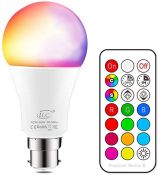 iLC Colour Changing Light Bulb Dimmable 10W B22 Ba