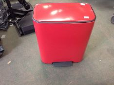 Brabantia Pedal Bin, Steel, Passion Red, Large (60